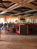 The bistro seating area