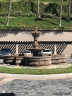 Fountain in driveway of main lobby
