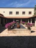 The courtyard out in front of the spa, gym, gift store, chapel, etc.