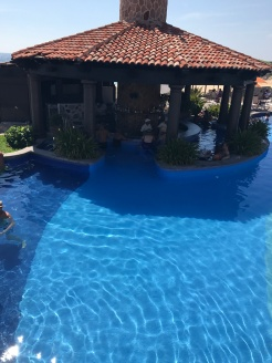 The swim up bar at the main pool